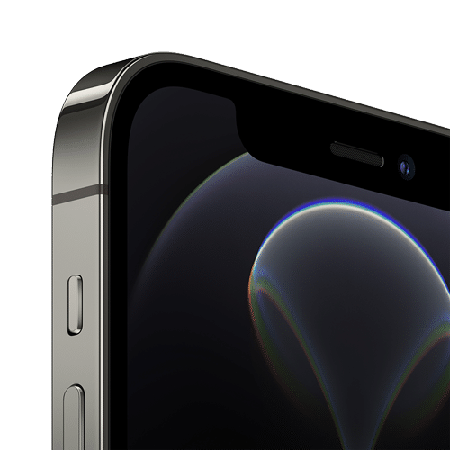 Apple iPhone 12 Pro Frontalansicht graphit big