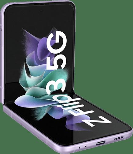 Samsung Galaxy Z Flip 3 5G Frontalansicht phantom lavender big