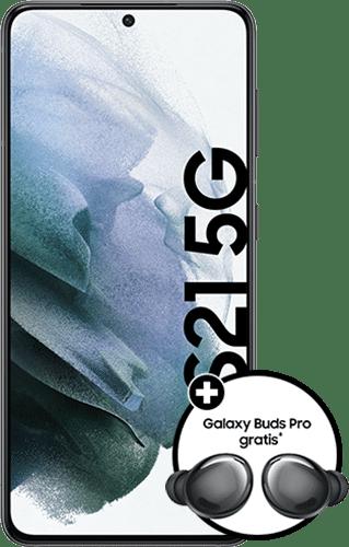 Samsung Galaxy S21 5G Frontalansicht phantom gray big