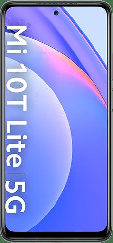 Xiaomi Mi 10T Lite Frontalansicht pearl gray big