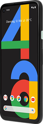 Google Pixel 4a Frontalansicht just black big