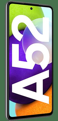 Samsung Galaxy A52 Frontalansicht awesome black big