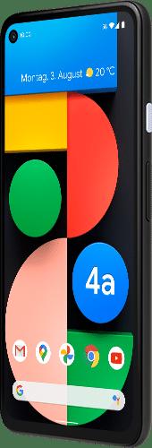 Google Pixel 4a 5G Frontalansicht just black big