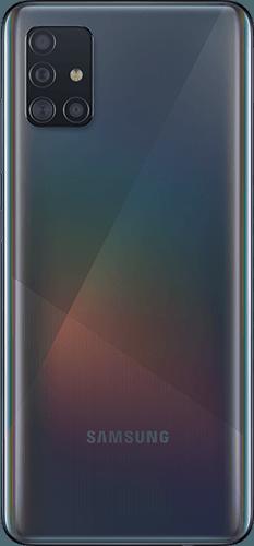Samsung Galaxy A51 Frontalansicht prism crush black big