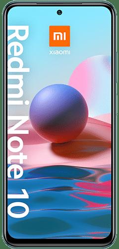 Xiaomi Redmi Note 10 Frontalansicht lake green big