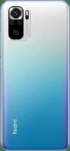 Xiaomi Redmi Note 10S Frontalansicht ocean blue big