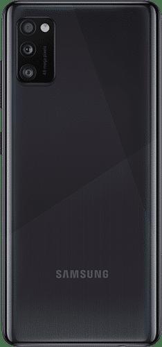 Samsung Galaxy A41 Frontalansicht schwarz big