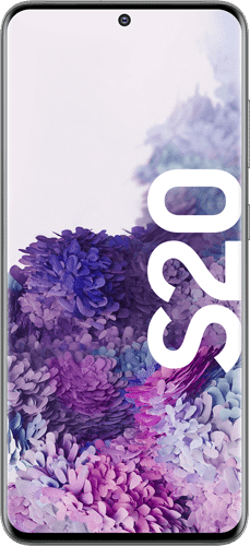 Samsung Galaxy S20 Frontalansicht cosmic gray big