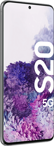 Samsung Galaxy S20 5G Frontalansicht cosmic gray big