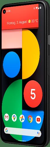 Google Pixel 5 Frontalansicht just black big