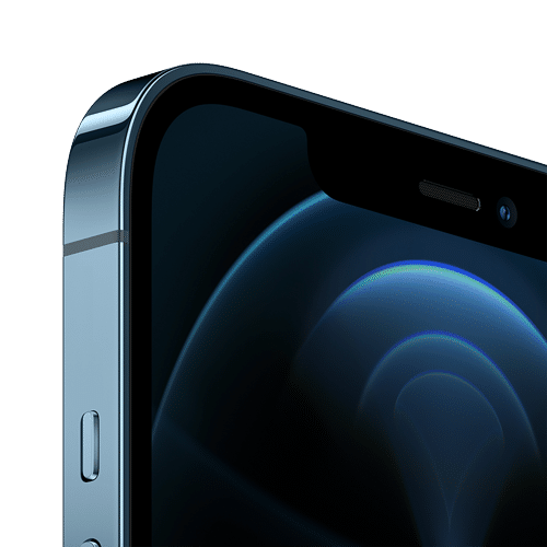 Apple iPhone 12 Pro Max Frontalansicht pazifikblau big