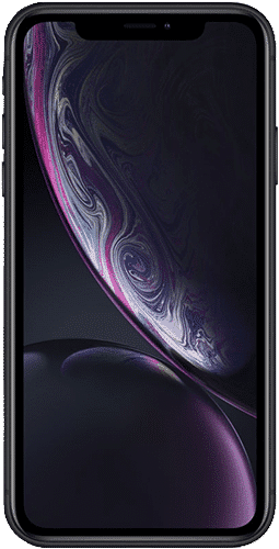 Apple iPhone Xr Frontalansicht Schwarz big