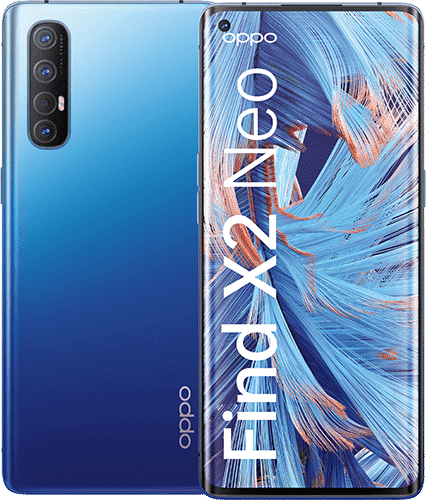 OPPO Find X2 Neo Frontalansicht starry blue big