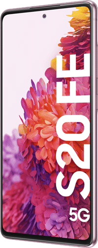 Samsung Galaxy S20 FE 5G Frontalansicht cloud lavender big