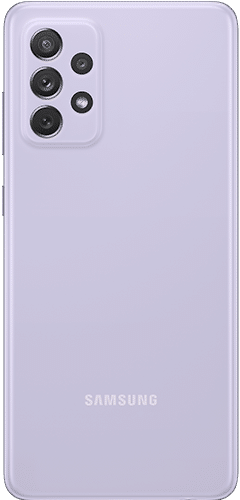 Samsung Galaxy A72 Frontalansicht awesome violet big