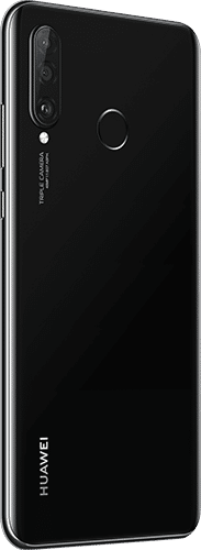 HUAWEI P30 Lite New Edition Frontalansicht midnight black big