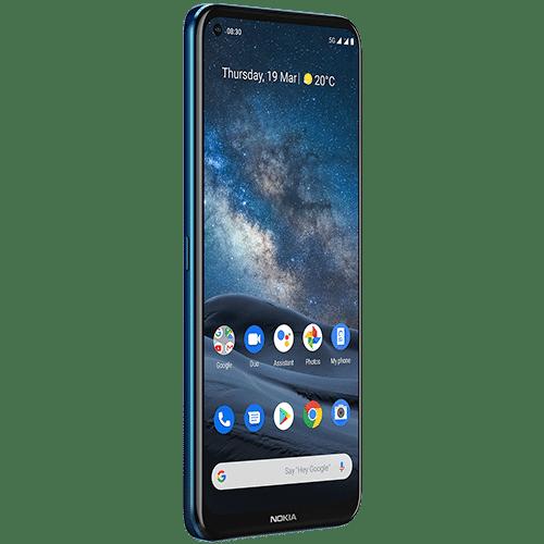 Nokia 8.3 5G Frontalansicht blue big