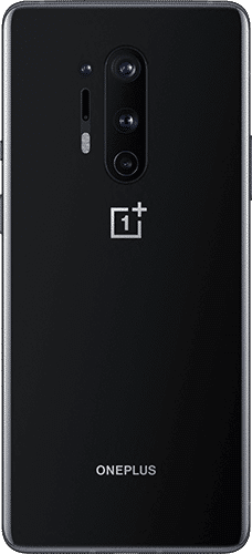 OnePlus 8 Pro Frontalansicht onyx black big