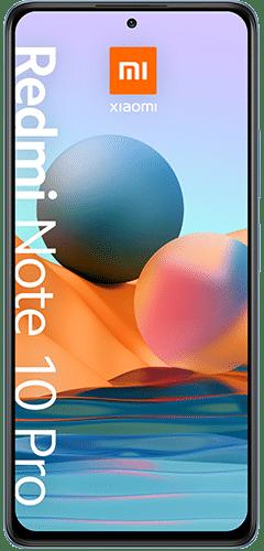 Xiaomi Redmi Note 10 Pro Frontalansicht glacier blue big