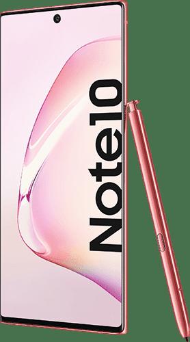 Samsung Galaxy Note10 Frontalansicht aura pink big