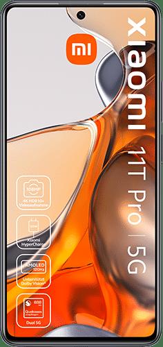 Xiaomi 11T Pro 5G Frontalansicht meteorite gray big