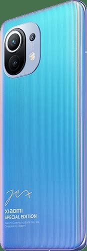 Xiaomi Mi 11 5G Frontalansicht azure blue Lei Jun Edition big