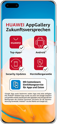 HUAWEI P40 Pro Frontalansicht silver frost big