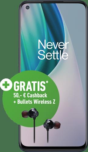 OnePlus Nord N10 5G Frontalansicht midnight ice big