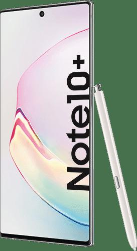 Samsung Galaxy Note10+ Frontalansicht aura white big