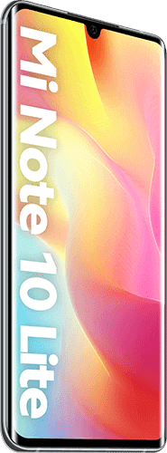 Xiaomi Mi Note 10 Lite Frontalansicht glacier white big