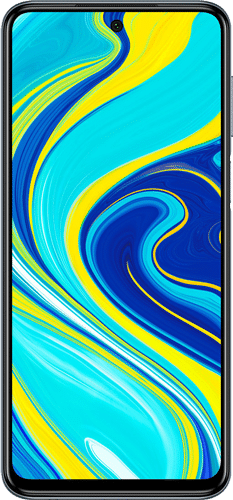 Xiaomi Redmi Note 9s Frontalansicht interstellar grey big