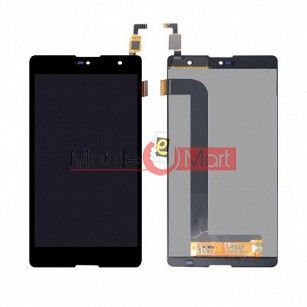 Lcd Display With Touch Screen Digitizer Panel Combo Folder Glass For Micromax Canvas Fire 5 Q386(Black)
