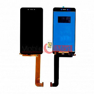 Lcd Display With Touch Screen Digitizer Panel Combo Folder Glass For Panasonic P55 Novo - Black