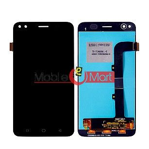 Lcd Display With Touch Screen Digitizer Panel Combo Folder Glass For Micromax Canvas 1 C1 (Black)