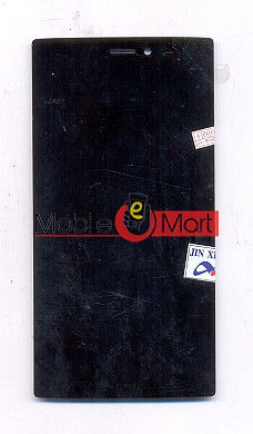 Lcd Display With Touch Screen Digitizer Panel Combo Folder Glass For Micromax Canvas 6 E485 (Black)