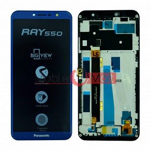 Lcd Display With Touch Screen Digitizer Panel Combo Folder Glass For Panasonic Eluga Ray 550 (Black)