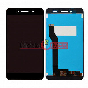 Lcd Display With Touch Screen Digitizer Panel Combo Folder Glass For Panasonic Eluga I3 Mega (Black)