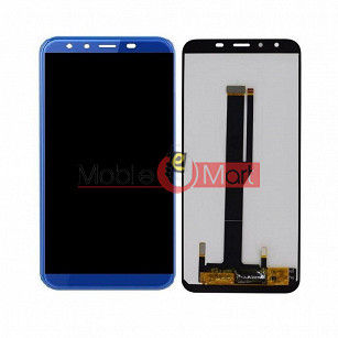Lcd Display With Touch Screen Digitizer Panel Combo Folder Glass For iVoomi i2 (Black)
