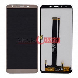 Lcd Display With Touch Screen Digitizer Panel Combo Folder Glass For iVoomi i2 Lite (Black)