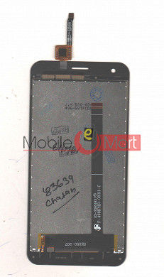 Lcd Display With Touch Screen Digitizer Panel Combo Folder Glass For iVoomi iV505 (Black)