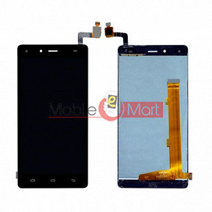 Lcd Display With Touch Screen Digitizer Panel Combo Folder Glass For Infinix Hot 4 Pro - Black
