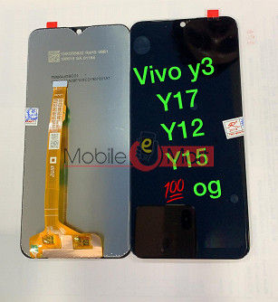 Lcd Display With Touch Screen Digitizer Panel Combo Folder Glass For Vivo Y12 (Black)