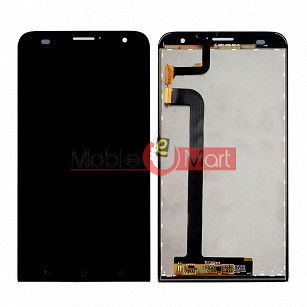 Lcd Display With Touch Screen Digitizer Panel Combo Folder Glass For ZenFone 2 Laser ZE550KL (Black)
