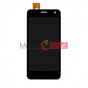 Lcd Display With Touch Screen Digitizer Panel Combo Folder Glass For Lava Iris X1 (Black)
