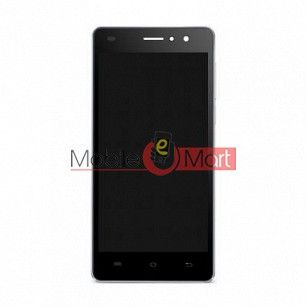 Lcd Display With Touch Screen Digitizer Panel Combo Folder Glass For Lava A71(Black)