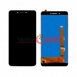 Lcd Display With Touch Screen Digitizer Panel Combo Folder Glass For Lava Z25 (Black)