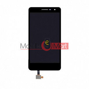 Lcd Display With Touch Screen Digitizer Panel Combo Folder Glass For  Lava x46(Black)