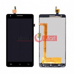 Lcd Display With Touch Screen Digitizer Panel Combo Folder Glass For Lava Iris Fuel F2 (Black)