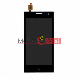 Lcd Display With Touch Screen Digitizer Panel Combo Folder Glass For Lava EG932 (Black)