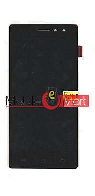 Lcd Display With Touch Screen Digitizer Panel Combo Folder Glass For Lava X41 (Black)